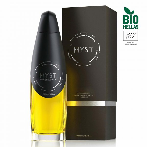 Organic Extra Virgin Olive Oil – MYST BIO - Bottle and Packaging