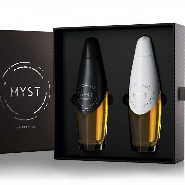 Luxury Edition - MYST AEON SILVER - Open bundle case with two bottles