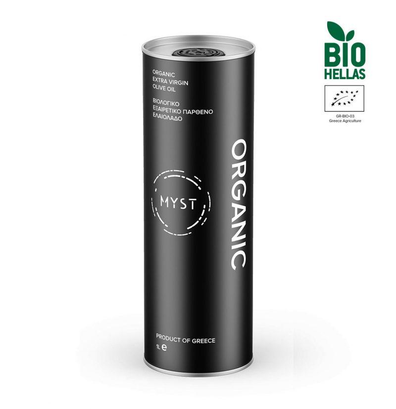 Organic Extra Virgin Olive Oil – ORGANIC - 1 Liter Front